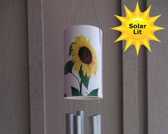 Sunflower wind chime | Etsy on