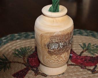 Wood Turned Vase- Domestic Ornamental Pear