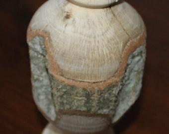 Wood Turned Vase- White Oak