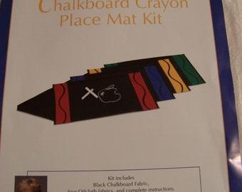 Chalkboard Crayon Placemat Kit