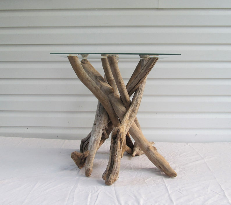 Driftwood Side Table Base Driftwood Table Beach Decor Etsy