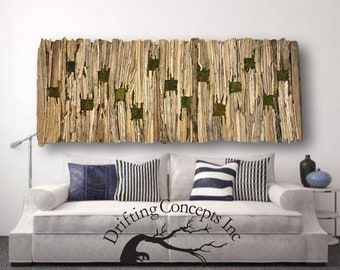 Extra Large Driftwood and Moss Wall Hanging Art, Living Wall, Driftwood Hanging Art, Beach Art, Living Wall, Beach Home Decor, Driftwood Art
