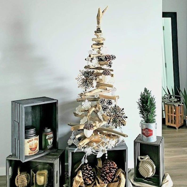 Medium or Large Driftwood Christmas Tree Driftwood Decor image 1