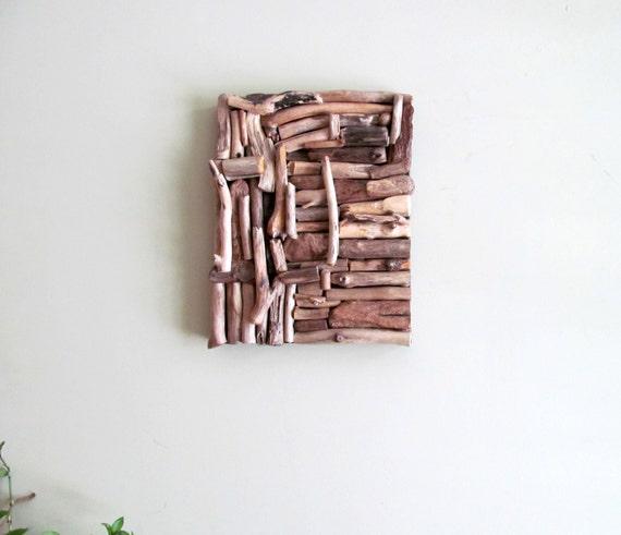 Mosaic Driftwood Wall Art Beach Home Decor Coastal Wall Art Etsy