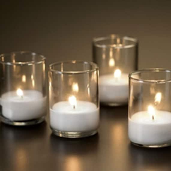 afcfa845033 Glass Votive Enclosure with White Unscented Votive Candles
