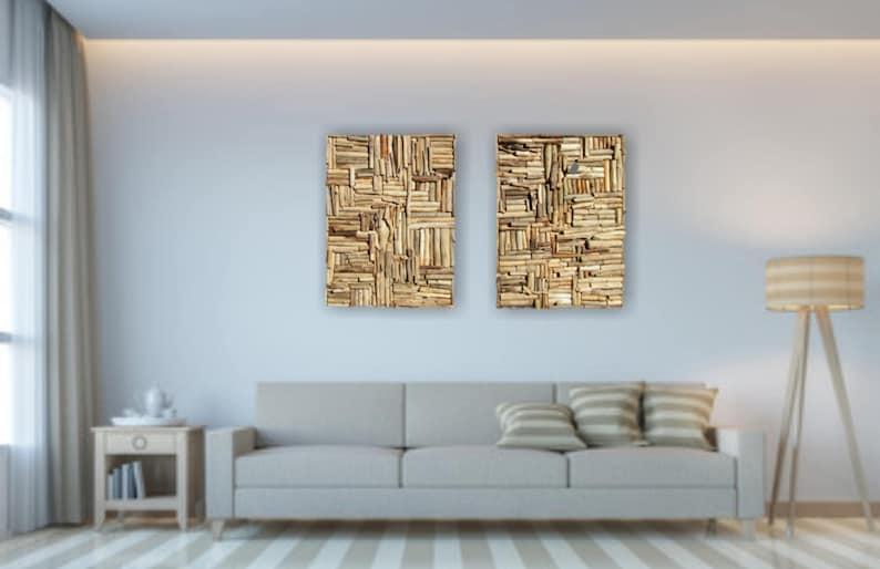 Large Mosaic Driftwood Wall Art Beach Home Decor Coastal Etsy