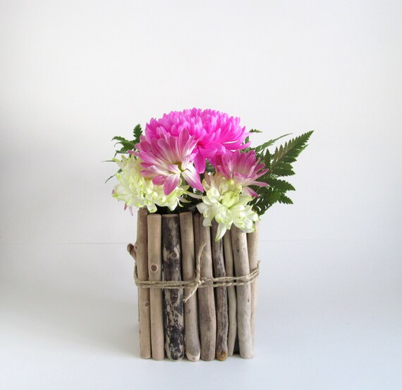 Rectangular Driftwood Vase Centerpiece Driftwood Flower Vase Etsy