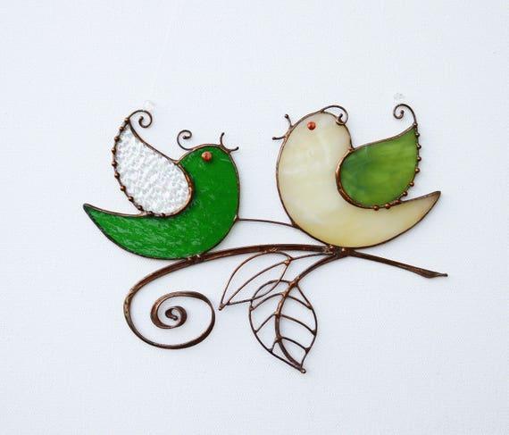Suncatcher vetri colorati uccelli home arredamento regalo for Arredamento regalo