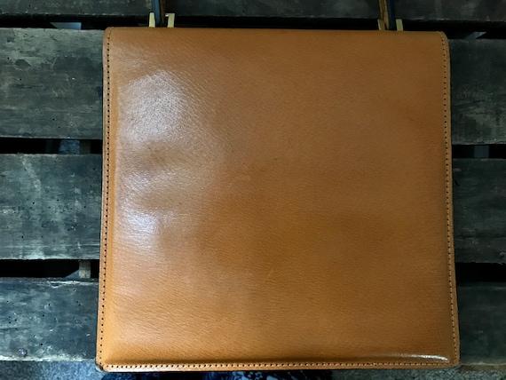 60's Leather Handbag. 60's Purse. Vintage Leather… - image 5