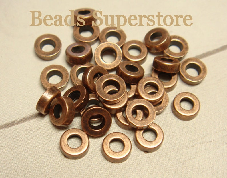 Lead Free and Cadmium Free Nickel Free 25 pcs 6 mm x 2 mm Antique Copper Spacer Bead