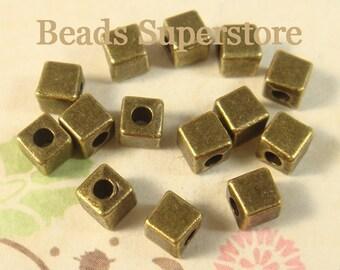 4.5 mm Antique Bronze Cube Spacer Bead - Nickel Free, Lead Free and Cadmium Free - 25 pcs