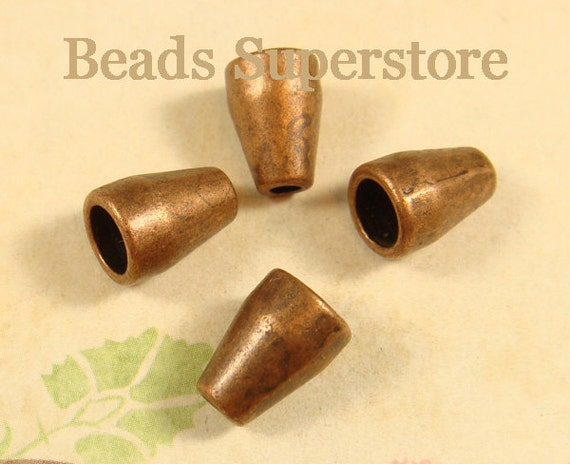 10 pcs Nickel Free and Lead Free FINAL SALE 22 mm x 9 mm Antique Copper Filigree Bead Cone