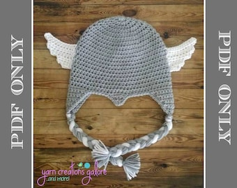 cb0a8a98ddbac4 Crochet THOR Hat Pattern ** PDF File ONLY*** Instant Download