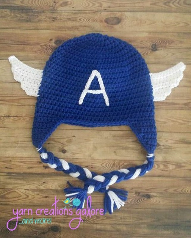 Crochet Captain America Hat Etsy
