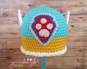 Crochet Snow Rescue Pup Hat