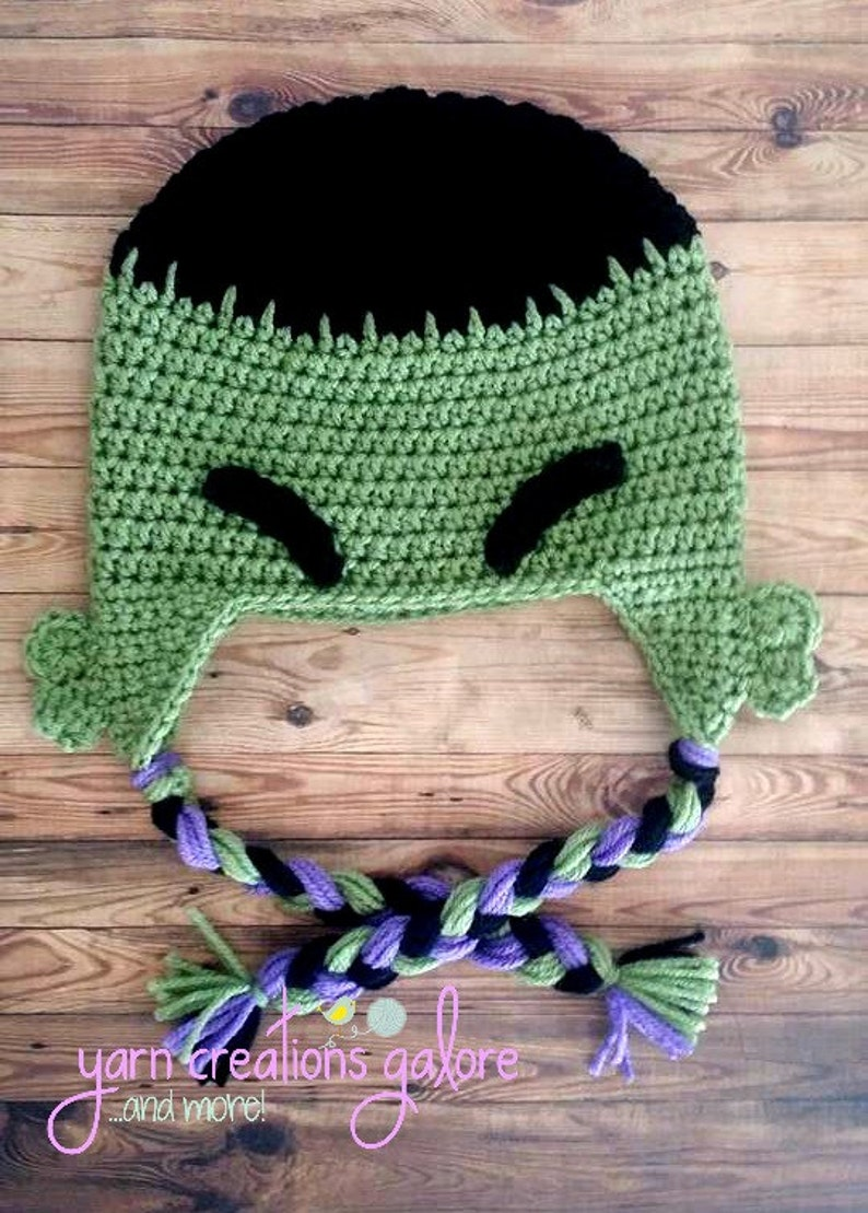 Crochet Hulk Hat  b1c53b51425