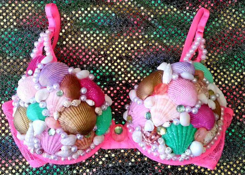 Mermaid outfit Seashell top Rave bra Mermaid Bra Little Mermaid Top Sea Nymph