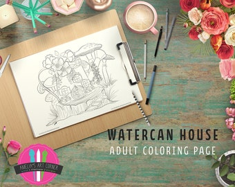 Adult Coloring Book Printable Page Fairy House Coloring