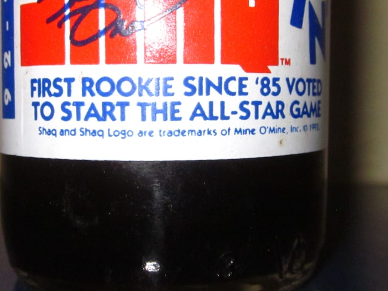 Collectible Commemorative Pepsi Unopened Shaq Slammin/' The First Rookie Since /'85 to Start All-Star Game