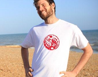 Yin Yang White Tshirt