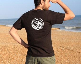 Yin Yang Black Tshirt
