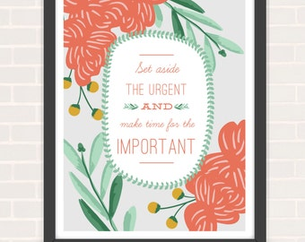 "Typographic Quote Poster - 8""x10"""