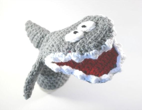 Shark Crochet Shark Hand Puppet Pattern Under The Sea Hand Etsy