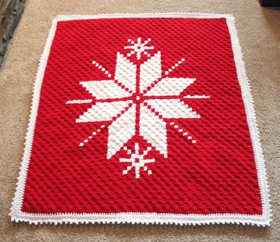 Christmas Afghan Pattern C2c Pattern Christmas Gift Easy Etsy