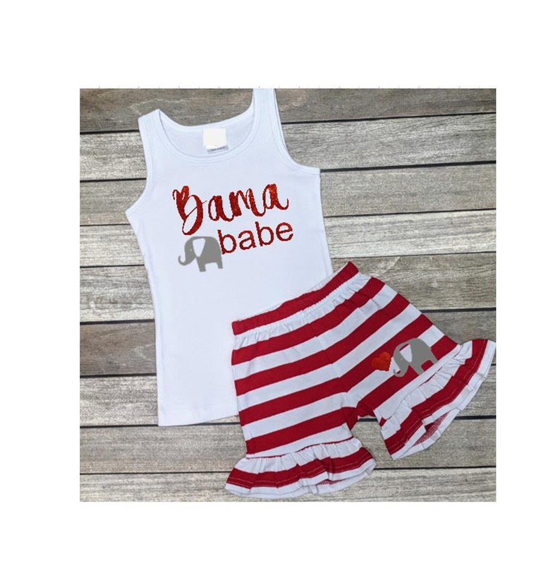 df5e93380 Alabama Babe Glitter Outfit AL Toddler Girls Outfit Alabama | Etsy