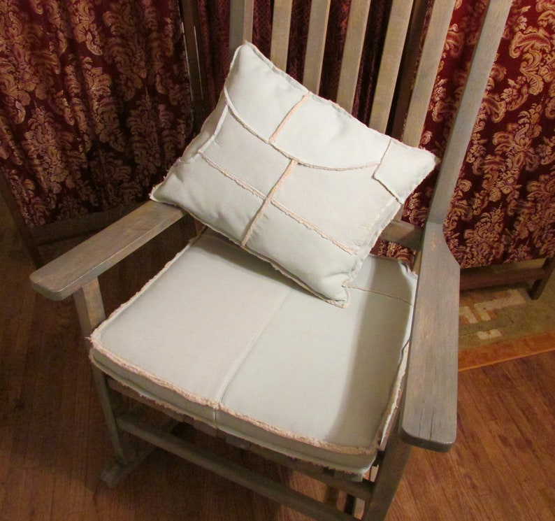 Grey Wooden Rocking Chair With Cushions Wood Rocker Chair With Pillow Nursery Decor Accent Chair One Of A Kind Design Upcycled