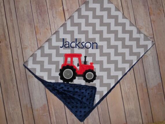 Manta de Bebé Personalizada Tractor Diseño-Elección de Colores Manta
