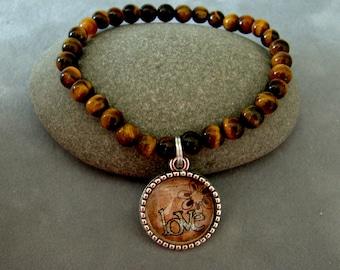 Stretch Bead Message Bracelet, Glass Bead Bracelet, Inspirational Gift, Life Lesson Bracelet