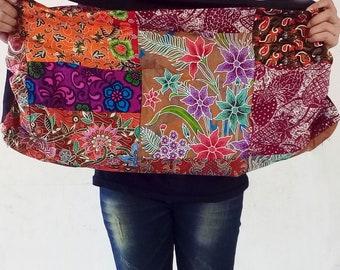 patchwork sarong  shoulder Bag  cotton ptachwork,sling bag,hippie bag,Bohemian Bag, Blue Elephant Market Bag, Hippie Bag, Large Shoulder Bag