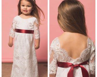 Items similar to Ivory lace petti dress - vintage lace dress - bridesmaid dress - flower girl dress - ivory flower girl dress
