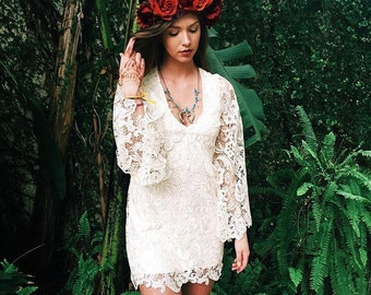 Boho wedding dress, lace wedding dress, crochet lace wedding dress, bohemian wedding dress, beach wedding dress, boho bridesmaid, bridesmaid