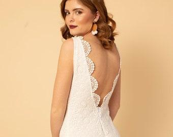 Crochet wedding dress, boho wedding dress, crochet lace wedding dress, beach wedding dress, casual wedding dress, hippie wedding dress,