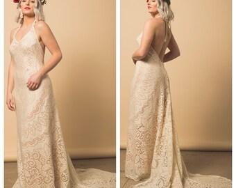 Wedding Dress, Boho Wedding Dress, Lace wedding dress, Casual wedding dress, vintage wedding dress, bohemian wedding dress, beach wedding