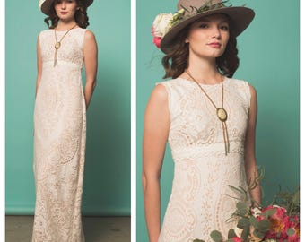 Wedding Dress, Boho Wedding Dress, Lace Wedding Dress, Vintage Lace, Vintage Wedding Dress, Crochet wedding dress, beach wedding dress