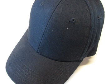 Navy Blue Ball Cap Hats for Men or Women Personalized Monogrammed