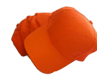 Safety Blaze Orange Ball Cap Hat Hunting personalized