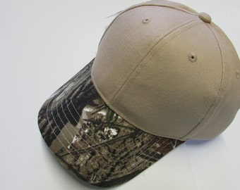 Camo and Tan or Camo and Orange Two Toned Hats personalized