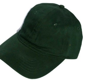 Green Ball Cap Hat Cotton Twill Monogrammed Custom Embroidery for men or women