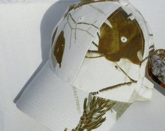 Ball Cap Hat Cotton Realtree Snow Camo Monogrammed Custom Embroidery