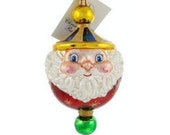 Vintage Christopher Radko CHUBBY CHEERDROPS Santa Christmas Tree Ornament Santa Claus Christmas Decor