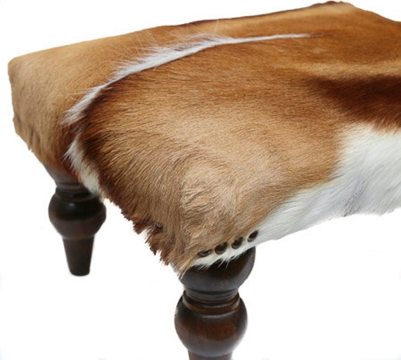African Springbok Ottoman Cowhide Ottoman Cowhide Stool Etsy