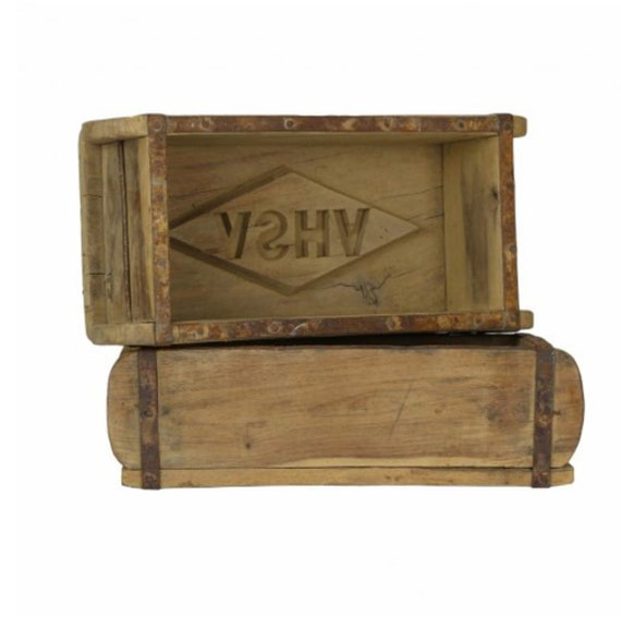 Vintage Brick Mold Masonry Tools Brick Mold Lettering and Symbols Farmhouse Wood Box Rustic Decor Housewarming Gift for Her Gift For Him