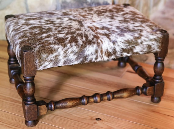 Surprising Cowhide Stool Cowhide Footstool Cowhide Ottoman 1800S Antique Wood Turned Furniture Vintage Hand Carved Oak Wood Furniture Theyellowbook Wood Chair Design Ideas Theyellowbookinfo