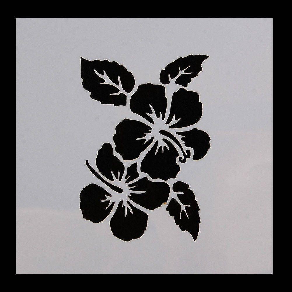 Bakell hawaiian flower pattern print stencil 5 x 5 quality etsy bakell hawaiian flower pattern print stencil 5 x 5 quality stencils from bakell genie izmirmasajfo