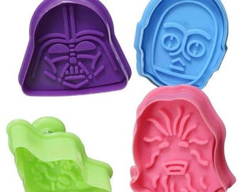 Bakell™ 4 Piece Impression Cutters - Cake Decorating & Crafting Tools from Bakell - Great for Star Wars themed Party