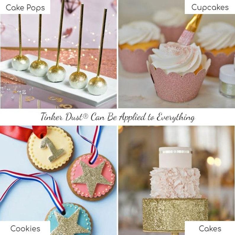 Rose Gold Tinker Dust Edible Glitter Bakell® Food Grade | Etsy